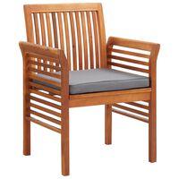 vidaXL spisebordsstole til haven 3 stk. med hynder massivt akacietræ