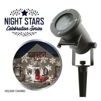 Night Stars LED-lampe Holiday Charms 6 mønstre 12 W NIS004