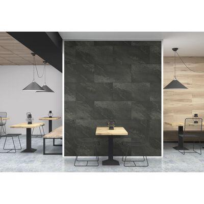Grosfillex vægbeklædningsfliser Gx Wall+ 45x90 cm 5 stk sten mørkegrå
