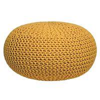 LABEL51 puf str. L strikket bomuld gul