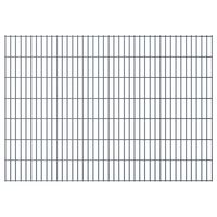 vidaXL havehegnspaneler 2D 2,008x1,43 m 4 m (total længde) grå