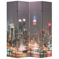 vidaXL foldbar rumdeler 160 x 170 cm New York by Night