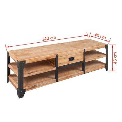 vidaXL TV-bord massivt akacietræ 140x40x45 cm