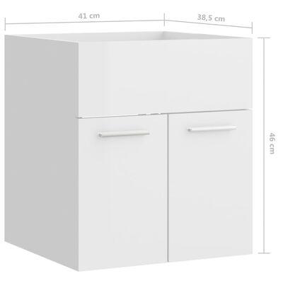 vidaXL badeværelsesmøbelsæt 2 dele spånplade hvid højglans