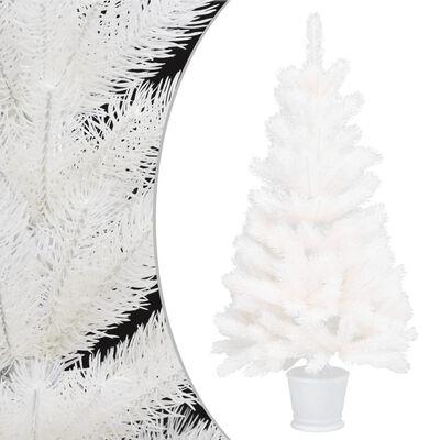 vidaXL kunstigt juletræ naturtro nåle 90 cm hvid
