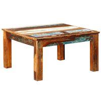 vidaXL sofabord firkantet genbrugstræ