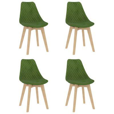 vidaXL spisebordssæt 5 dele lysegrøn