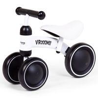 CHILDHOME balancecykel til tumling Vroom metal hvid