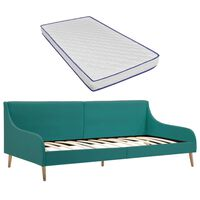 vidaXL daybed med madras i memoryskum stof grøn