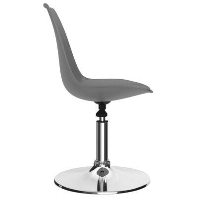 vidaXL drejelige spisebordsstole 4 stk. kunstlæder lysegrå