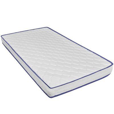 vidaXL seng med madras i memoryskum kunstlæder 180 x 200 cm
