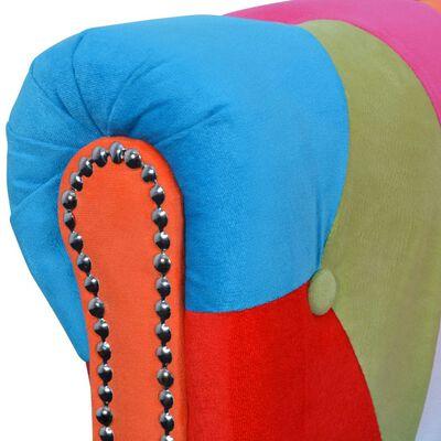 vidaXL Chesterfield 3-personers sofa stof