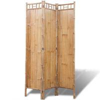 vidaXL 4-panelers rumdeler i bambus
