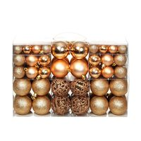 vidaXL julekuglesæt 100 stk. 6 cm rosenfarvet/guldfarvet