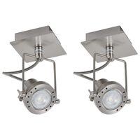 vidaXL spotlamper 2 stk. GU10 sølvfarvet