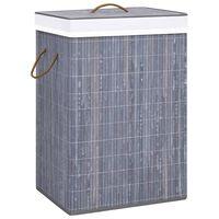 vidaXL vasketøjskurv bambus grå