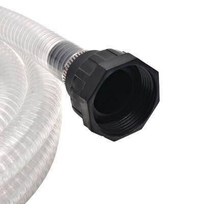 vidaXL sugeslange med tilslutninger 10 m 22 mm hvid