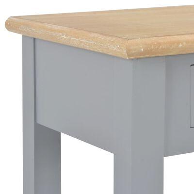 vidaXL konsolbord 110 x 35 x 80 cm træ grå