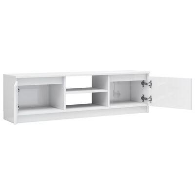 vidaXL tv-skab 120 x 30 x 35,5 cm spånplade hvid højglans