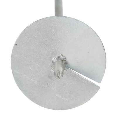 vidaXL jordankre 6 stk. 10x60 cm galvaniseret metal