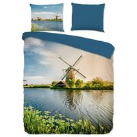 Good Morning sengetøj WINDMILL 200x200 cm flerfarvet