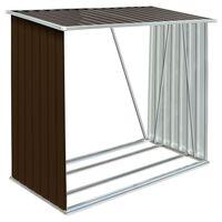 vidaXL brændeskur til haven 163x83x154 cm galvaniseret stål brun
