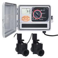 vidaXL kontrolenhed til vandingssystem med 2 magnetventiler