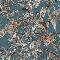 DUTCH WALLCOVERINGS tapet Bird-of-Paradise blå