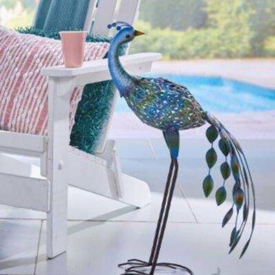 Luxform soldrevet LED-havelampe Peacock