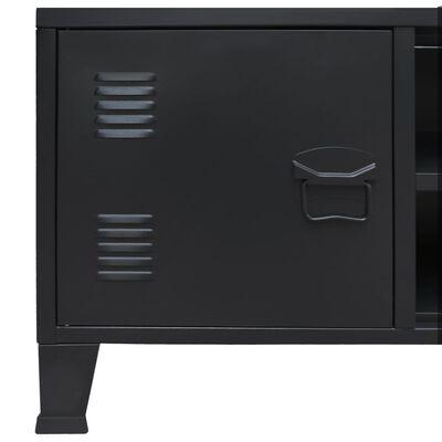 vidaXL TV-skab i metal industriel stil 120 x 35 x 48 cm sort