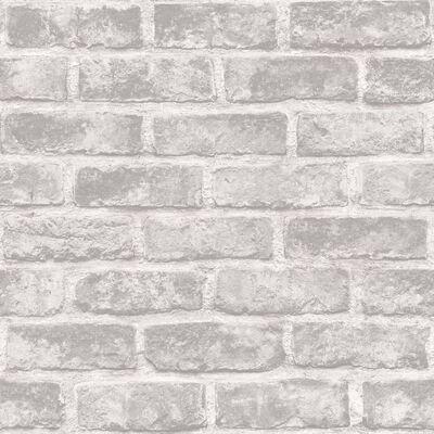 DUTCH WALLCOVERINGS tapet mursten grå