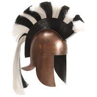 vidaXL græsk krigshjelm til rollespil antik stål kobberfarvet