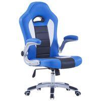 vidaXL gamingstol blå kunstlæder