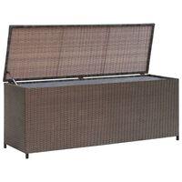 vidaXL udendørs opbevaringkasse brun 120x50x60 cm polyrattan