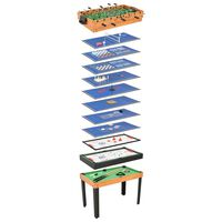 vidaXL 15-i-1 multi-spillebord 121 x 61 x 82 cm ahorn