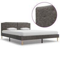 vidaXL sengestel 160 x 200 cm mørkegrå stof