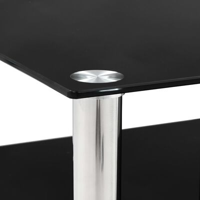 vidaXL tv-bord 90 x 40 x 113 cm hærdet glas sort