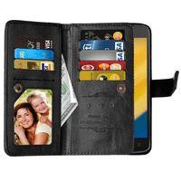 Dobbelt Flip Flexi 9-kort Motorola Moto C (XT1754)-sort