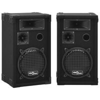 vidaXL prof. passive hi-fi-scenehøjttalere 2 stk. 800 W sort