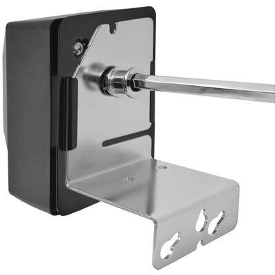 vidaXL BBQ-rotisserispyd med motor stål 1.200 mm