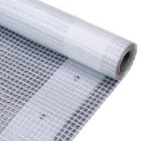 vidaXL leno-presenning 260 g/m² 4 x 6 m hvid