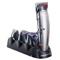 Akku hårklipper Babyliss E837E+10ACC LED Waterproof 10 x 1 Sort Grå