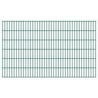 vidaXL havehegnspaneler 2D 2,008x1,23 m 14 m (total længde) grøn