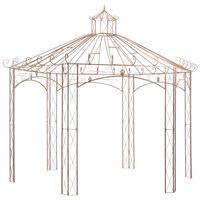 vidaXL havepavilloner 4 m jern antikbrun