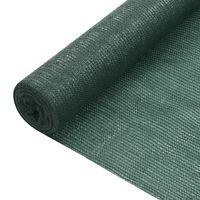 vidaXL afskærmning 1,2x50 m 75 g/m² HDPE grøn