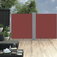 vidaXL sammenrullelig sidemarkise 170 x 600 cm brun