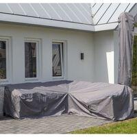Madison udendørs loungesætovertræk 320x255x70 cm grå