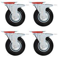 vidaXL drejehjul 12 stk. 125 mm