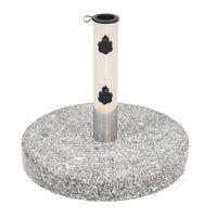 vidaXL parasolfod granit rund 20 kg