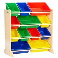KidKraft opbevaringsenhed til legetøj Sort it & Store It naturfarvet
